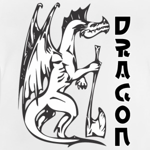 standing dragon with axe - Baby T-Shirt