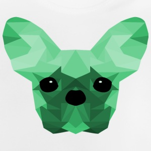 French Bulldog turchese Low Poly design - Maglietta per neonato