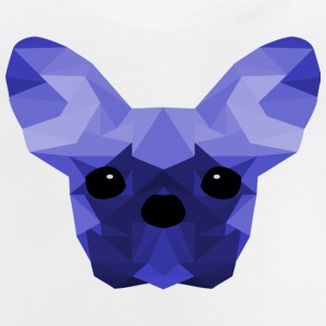 French Bulldog Low Poly Design blå - Baby-T-skjorte