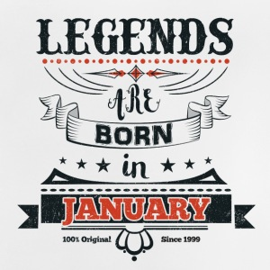 Legends January born birthday gift Young - Baby T-Shirt