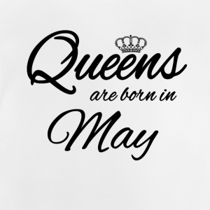 Queens Born May Prinzessin Geburtstag Birthday Mai - Baby T-Shirt