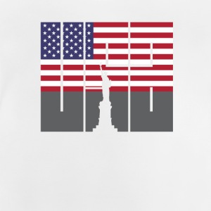 Usa, liberty, statue, flag, holiday, travel, remembrance - Baby T-Shirt