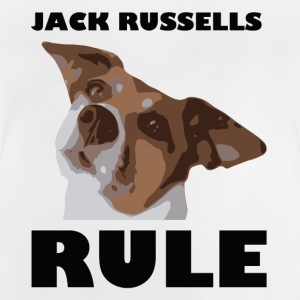 Jack russels rule2 - Baby-T-shirt