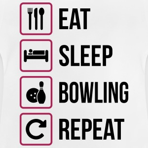 Eat Sleep Bowling Répéter - T-shirt Bébé