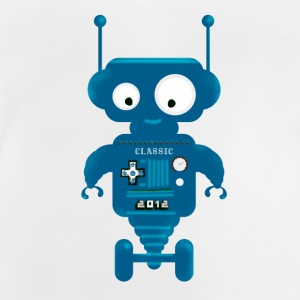 Robot cute small toy AI auto lo - Baby T-Shirt