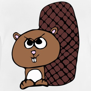 funny beaver drawing - Baby T-Shirt