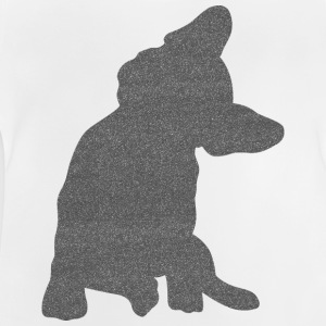 Frenchie Bouledogue français Glitter optique - T-shirt Bébé