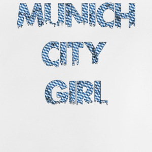 Munich City Girl Logo with Bavarian background - Baby T-Shirt