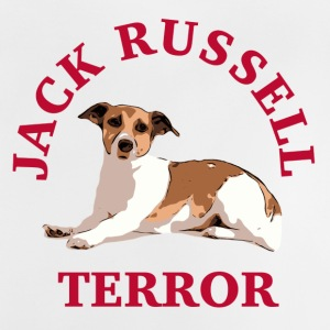 Jack Russell terror3 red - Baby T-Shirt