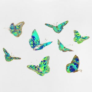Spring T-shirt, butterflies, blue green - Baby T-Shirt