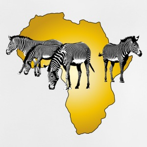 The Spirit of Africa - Zebras African Serengeti - Baby-T-skjorte