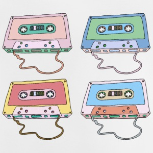 Music cassette compact cassette magnetic tape Retro - Baby T-Shirt