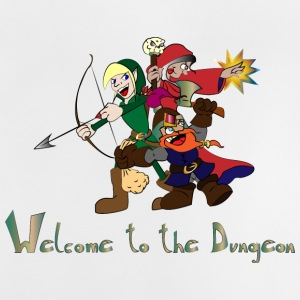 welcome to the dungeon - Camiseta bebé