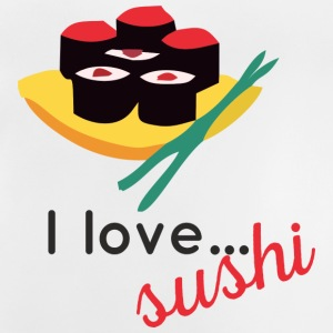 "Design ""I love sushi ..."" - T-shirt Bébé"