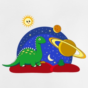 Dinosaur Space Space Saturn moon Planet - Baby T-Shirt