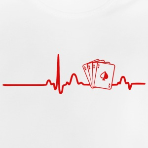 EKG HEART LINE POKER red - Baby-T-shirt