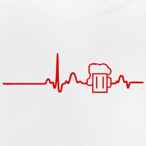 ECG HEART LINE BEER red - Baby T-Shirt