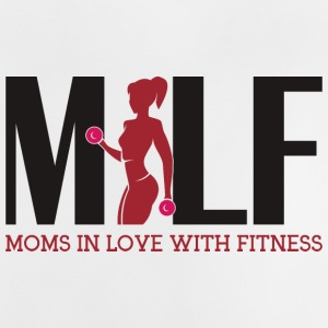 Milf : Moms in love with fitness - Baby T-Shirt
