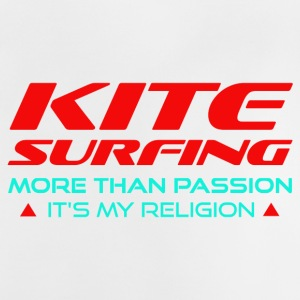 KITESURFING - PLUS DE PASSION - ITS MY RELIGION - T-shirt Bébé