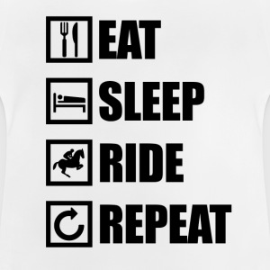EAT SLEEP RIDE REPEAT - Baby T-shirt