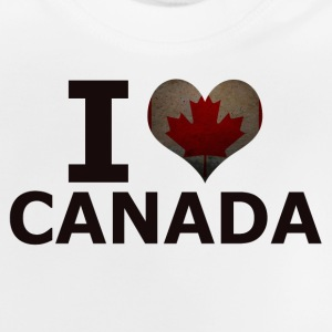 I LOVE CANADA FLAG - Baby T-Shirt