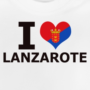 I LOVE LANZAROTE FLAG - Baby T-Shirt