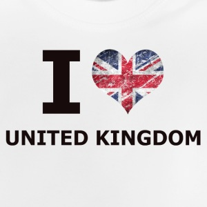 I LOVE britisk flag - Baby T-shirt
