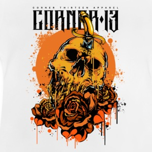 Orange skalle & Roses - Baby-T-shirt