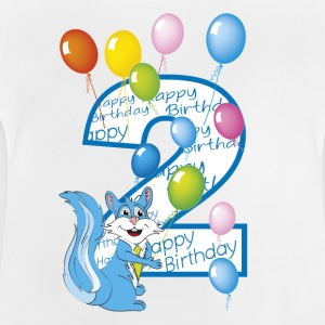 2nd birthday blue squirrel 2 years - Baby T-Shirt