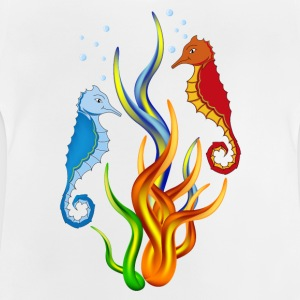 Sea horse with seaweed - Baby T-Shirt