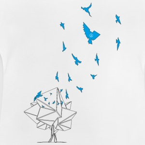 birds_blue - T-shirt Bébé