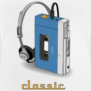 Klassiskt WALKMAN retro design, blå - Baby-T-shirt
