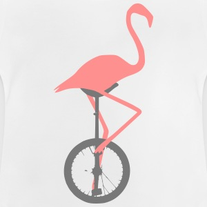 Flamingo on unicycle - Baby T-Shirt