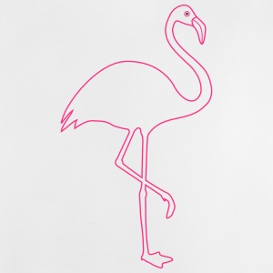 Flamingo silhouette in pink - Baby T-Shirt