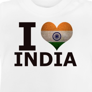 I LOVE INDIEN FLAG - Baby T-shirt