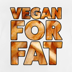 Vegan For Fat | Fun Design | French lettering - Baby T-Shirt