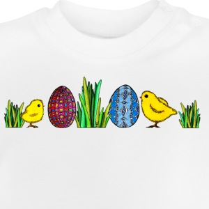 Easter Egg Chick Easter chicks grass egg Spring - Baby T-Shirt