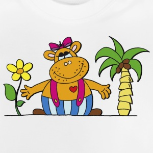 funny hippo with sunflower Hippo Hippo - Baby T-Shirt