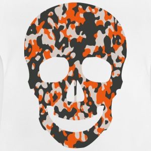 ORANGE CAMO SKULL TSHIRT - Baby T-shirt