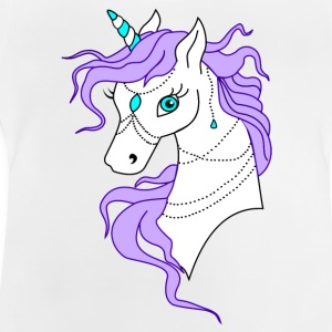 Unicorn Purple - Baby-T-shirt