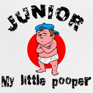 Rolig unge Junior My Little Pooper - Baby-T-shirt