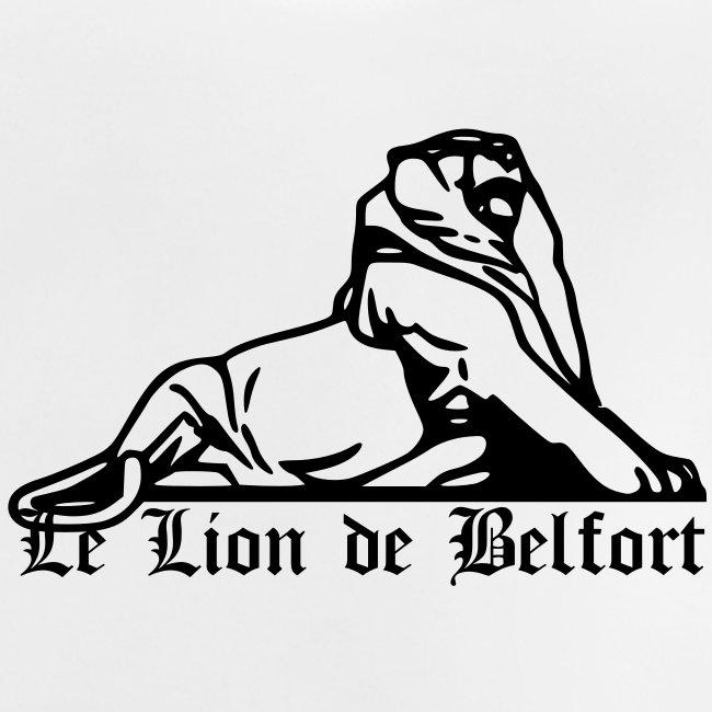 Lion de Belfort + texte gothique