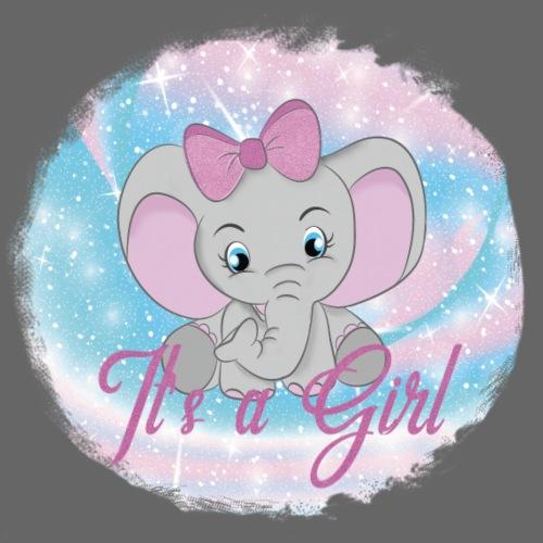 lief baby olifantje met grote strik - Baby T-shirt