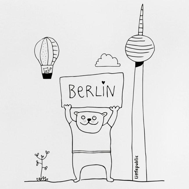 Berliner Bär Zum Ausmalen Littlepublic Baby T Shirt