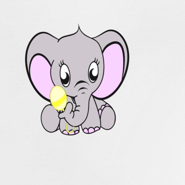 Baby olifantje met rammelaar