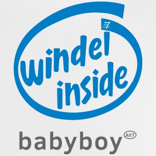 Baby Boy Windel inside (blue) - Baby T-Shirt