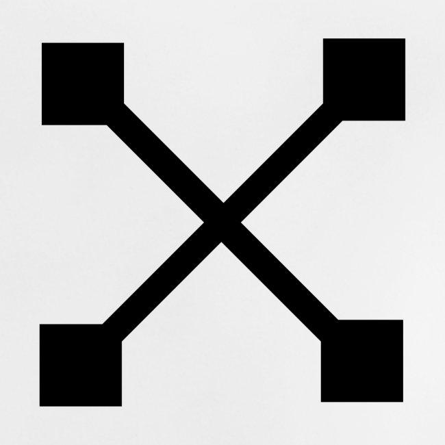 """""""X"""" BLK"""