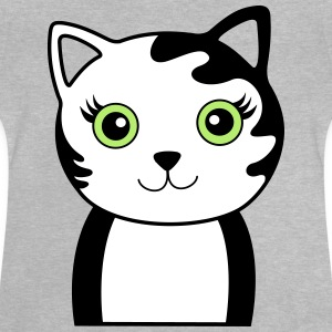 Cat with green eyes - Baby T-Shirt