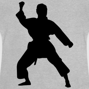 Kung Fu Fighter Silhouette 5 - Baby-T-shirt