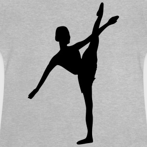 Vector Ballet dancer Silhouette - Baby T-Shirt